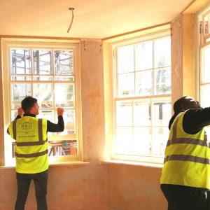Checking sash windows work.