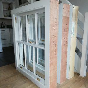 Installation of new timber sash windows