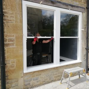 New hardwood windows