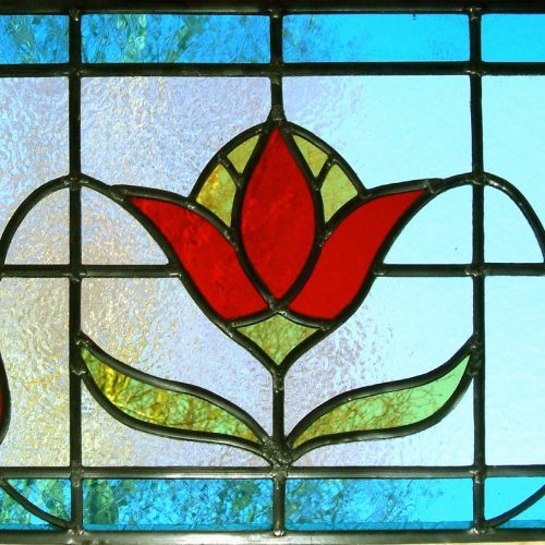 Double glazed stained glas